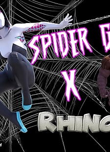 pics Megaparodies – Spider Gwen X Rhino, big boobs , monster