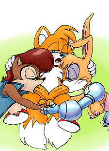 pics Sonic Two Girls - part 2, amy rose , rouge the bat , group , furry