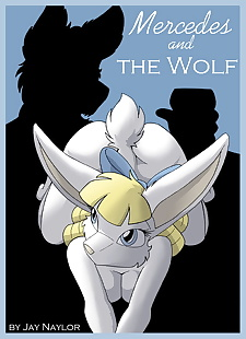 english pics Mercedes and The Wolf, full color , furry