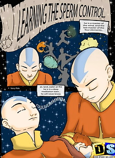 english pics Learning the Sperm Control, katara , aang , full color