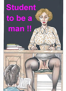 english pics Teaching Her Student to be a Man, milf , full color  stockings