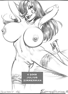 pics Collected artwork of Julius Zimmerman, power girl , jessica rabbit , dark skin , yuri